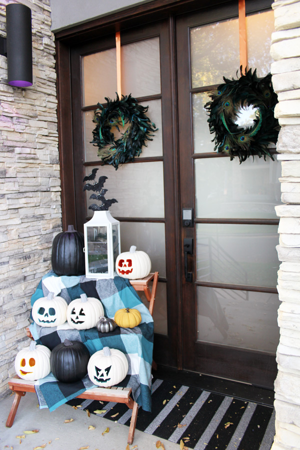 Front Porch Halloween Decorations Blue I Style Creating An Organized Amp Pretty Happy Home