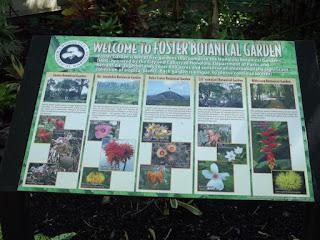 The Welcome panel - Foster Botanical Garden, Honolulu, HI