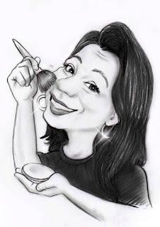 caricaturas de maquiadoras