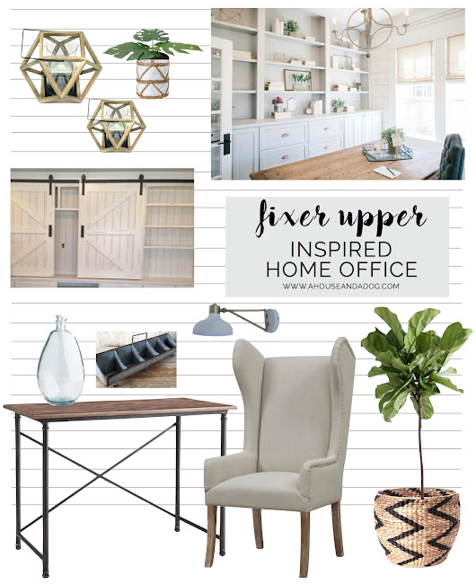 Fixer Upper Inspired Office Makeover