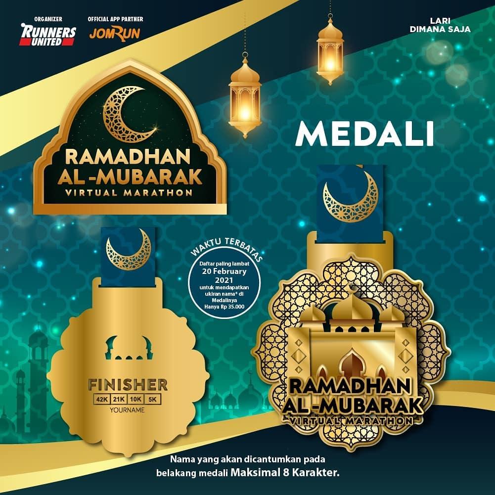 Medali 🏅 Ramadhan Al-Mubarak Virtual Marathon • 2021