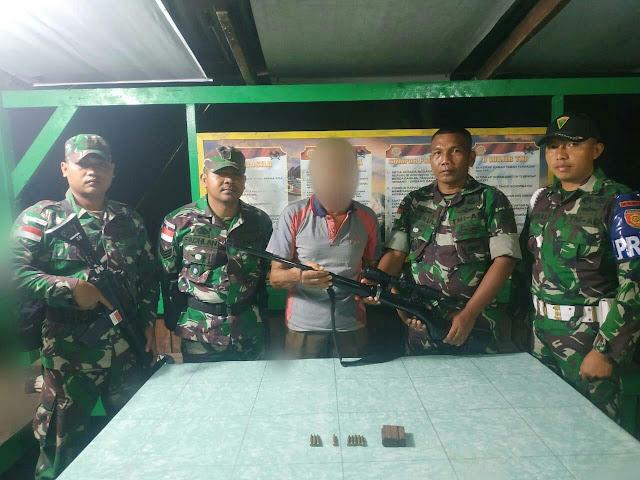 Warga Arso 2 Secara Sukarela Serahkan Senjata Api dan Munisi Kepada Satgas Yonif PR 328 Kostrad