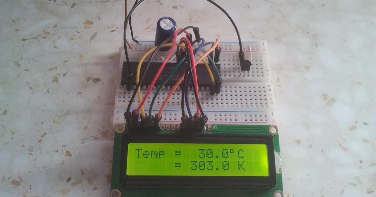 Temperature Sensor Using Pic16f877a Microcontroller