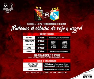 Melgar vs Sporting Cristal