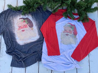 vintage Santa shirts