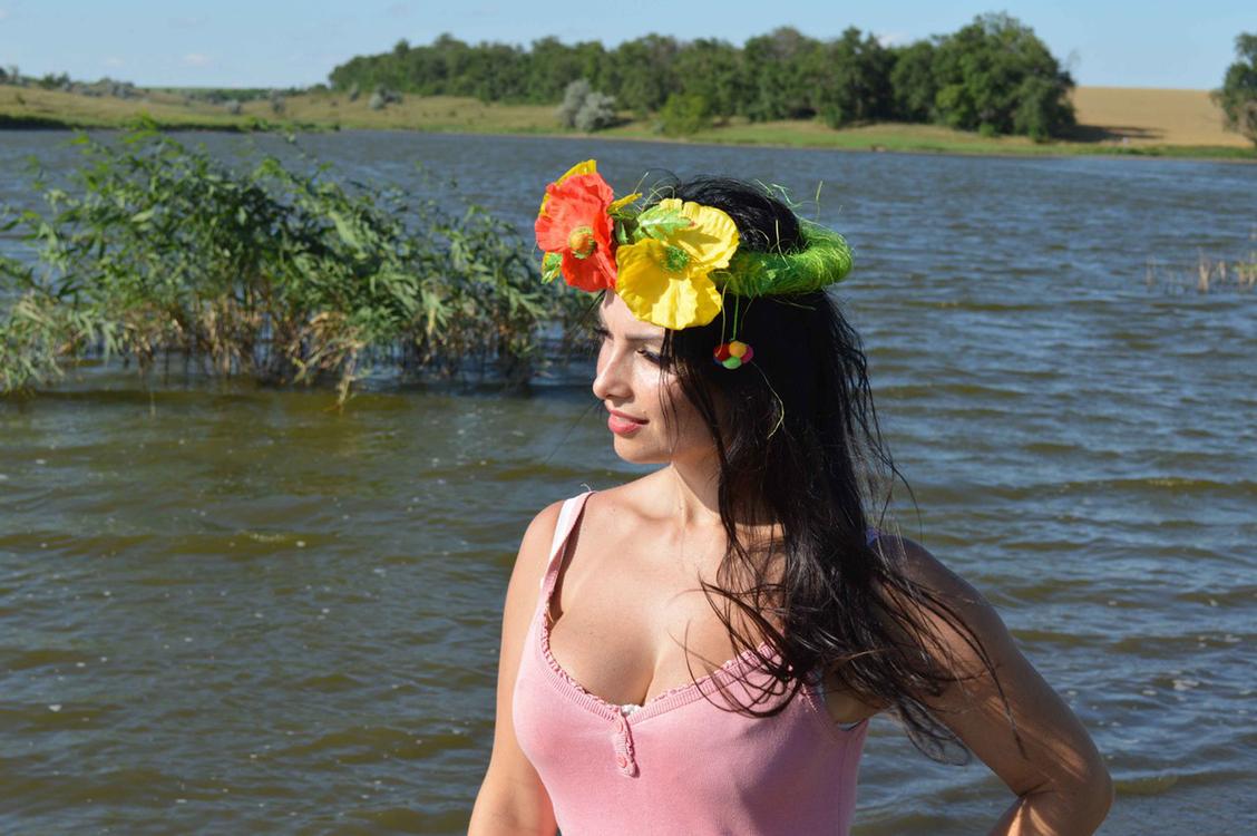 schöne und seriöse Ukrainerin