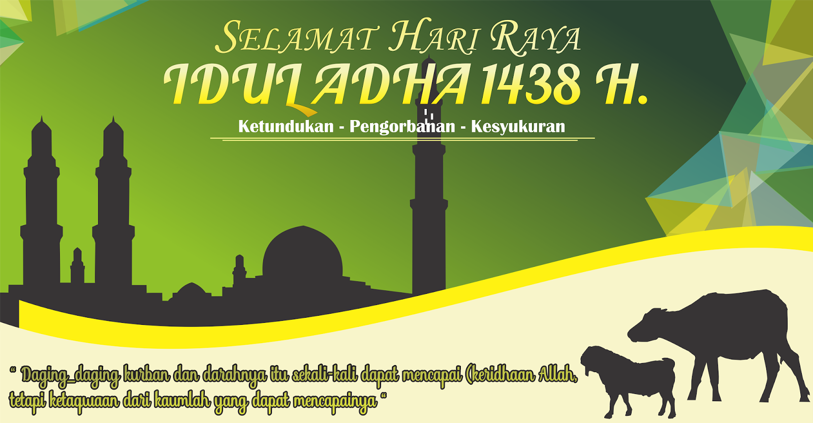 Banner Selamat Hari Raya Idul Adha H