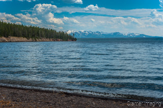 Cramer Imaging's quality landscape photograph of waves on Yellowstone Lake at Yellowstone National Park Wyoming