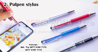 Pulpen stylus merupakan salah satu aksesoris handphone yang cocok dijadikan souvenir
