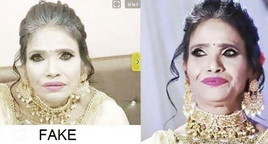 Ranu Mondal's makeup
