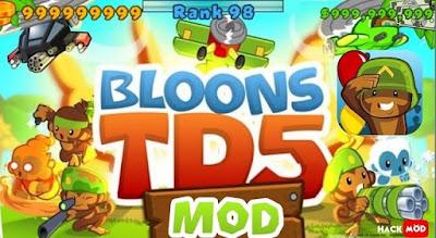 Bloons TD 5 Apk + Mod Money,Unlocked Download