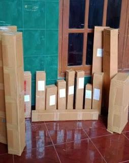 contoh packing dari kardus