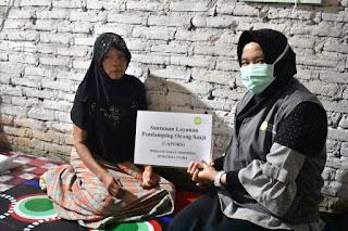 IZI Sumut Ringankan Biaya Obat Nurfimah,  Janda Sebatang Kara