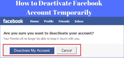 How do I deactivate my facebook account
