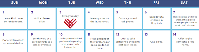 Kindness Calendar Giving Tuesday