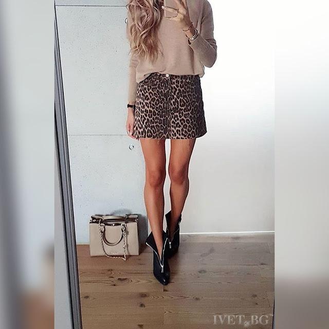 Κοντή ψηλόμεση φούστα RIKARDA