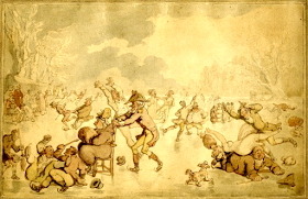 A scene on the ice by Thomas Rowlandson (1756-1827)  © The Trustees of the Brititsh Museum  Used under Creative Commons (CC BY-NC-SA 4.0) licence