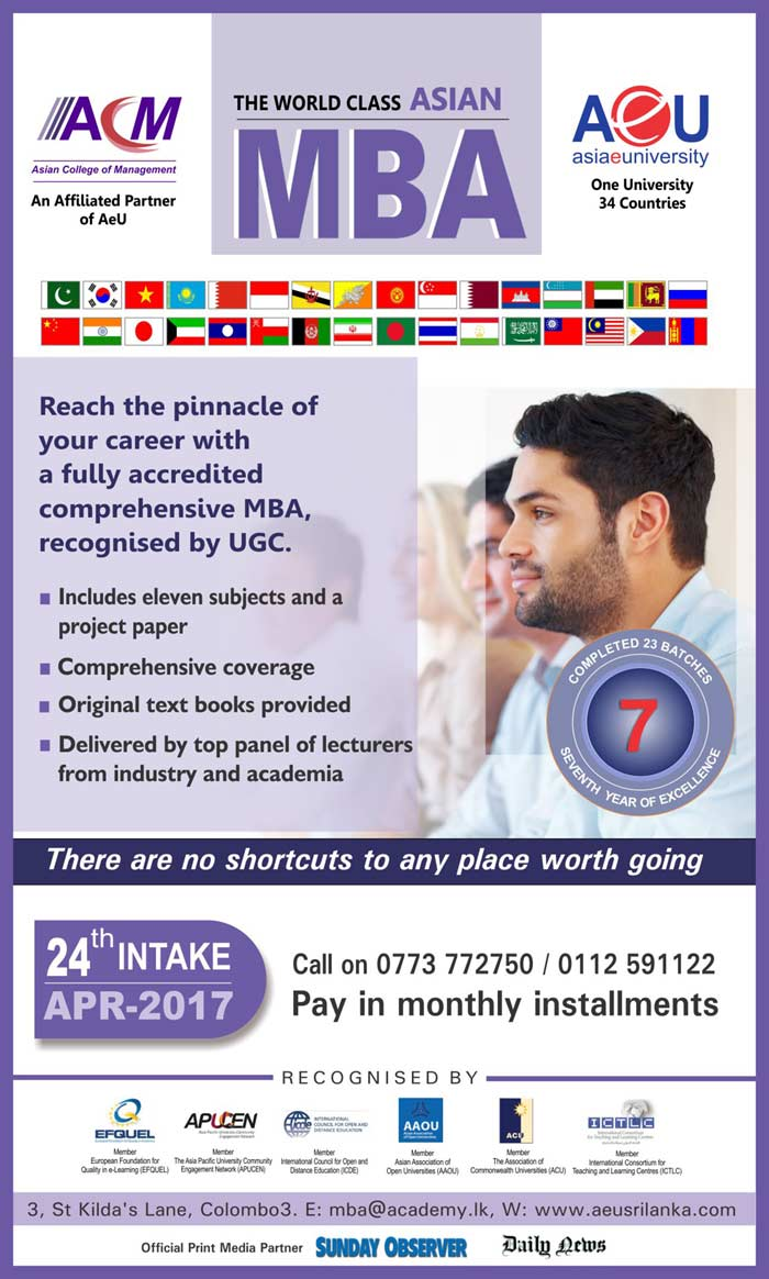 Asian College of Management | The World Class​ ​MBA ​from AeU​ - Join the ​2​4th Intake
