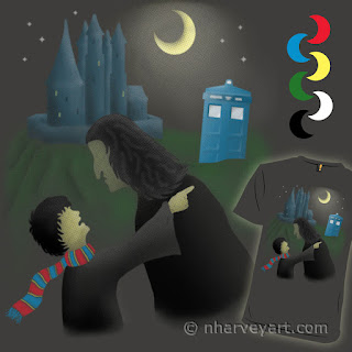 """""""That CAN'T Happen HERE!"""" Submission digital art, police box at wizard school"""