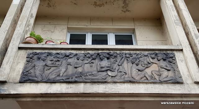 płaskorzeźba Warszawa Warsaw architektura modernizm Mokotów lata 30 Zdzisław Maczeński Jan Wedel