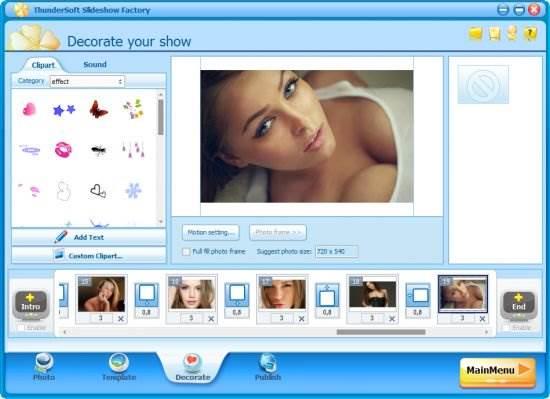 Screenshot ThunderSoft Slideshow Factory 4.7.0 Full Version