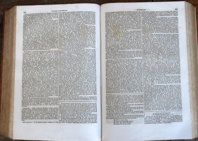 """Article « Saint-Germain » dans le """"Dictionnaire de Bretagne"""" par Ogée - Edition de 1853"""