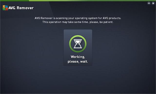 Interfaccia del programma AVG Remover