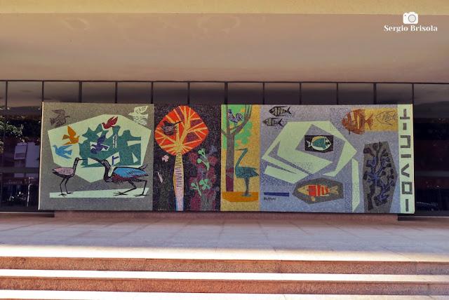 Painel Mosaico de Bramante Buffoni - Edifício Nobel - Higienópolis - São Paulo