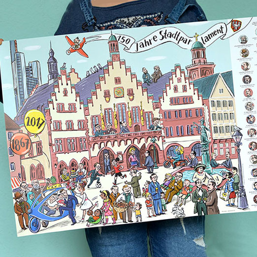 Sabine Kranz Illustration Wimmelposter Und Ausmalbilder Im