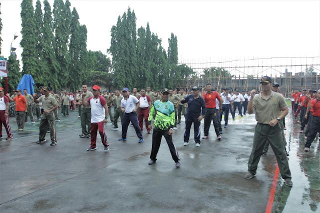 Bupati Asahan Olahraga Bersama TNI dan Polri