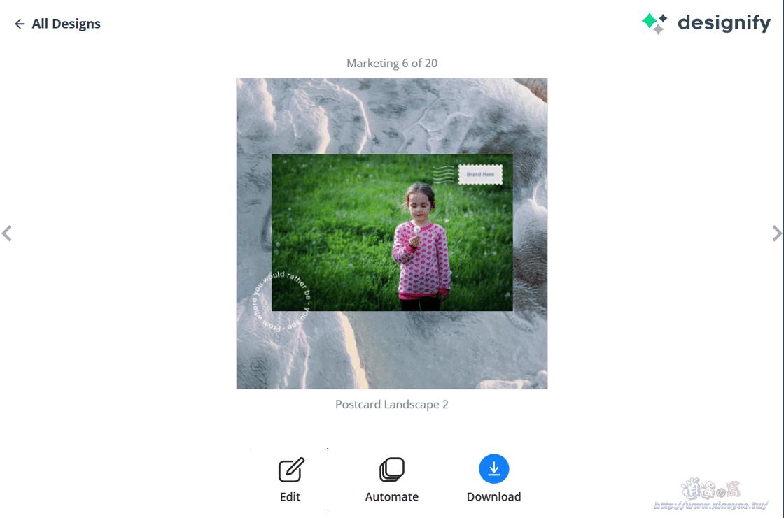Designify 線上照片去背&合成影像設計工具,可編輯樣板圖片一次合成10張影像