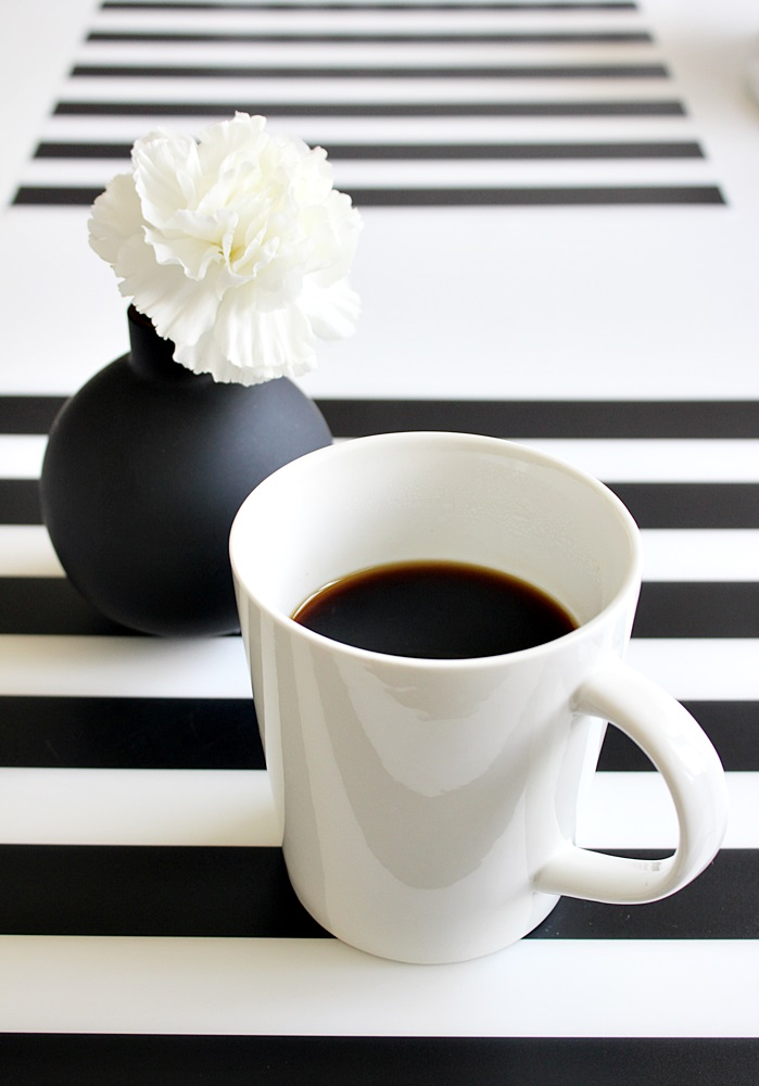 ikea pöytätabletti black and white home stripes coffee scandinavian home