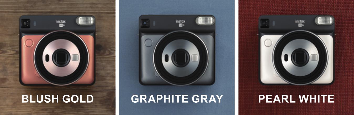 Три цвета камеры Fujifilm Instax Square SQ6