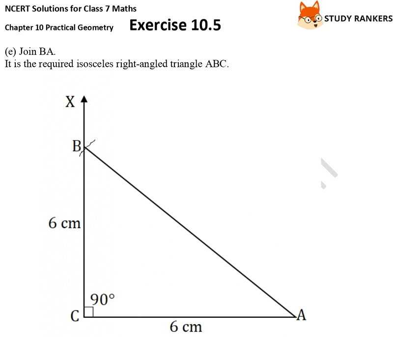 NCERT Solutions for Class 7 Maths Ch 10 Practical Geometry Exercise 10.5 3