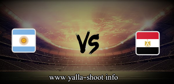 مشاهدة مباراة مصر والارجنتين بث مباشر اليوم الأحد 25-7-2021 يلا شوت الجديد في الألعاب الأولمبية
