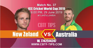 Who will win ICC CWC 2019 37th Match Australia vs New Zeland