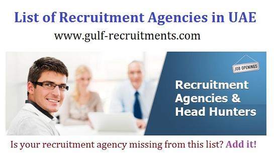 List Of Recruitment Agencies In Uae Gulf Recruitments