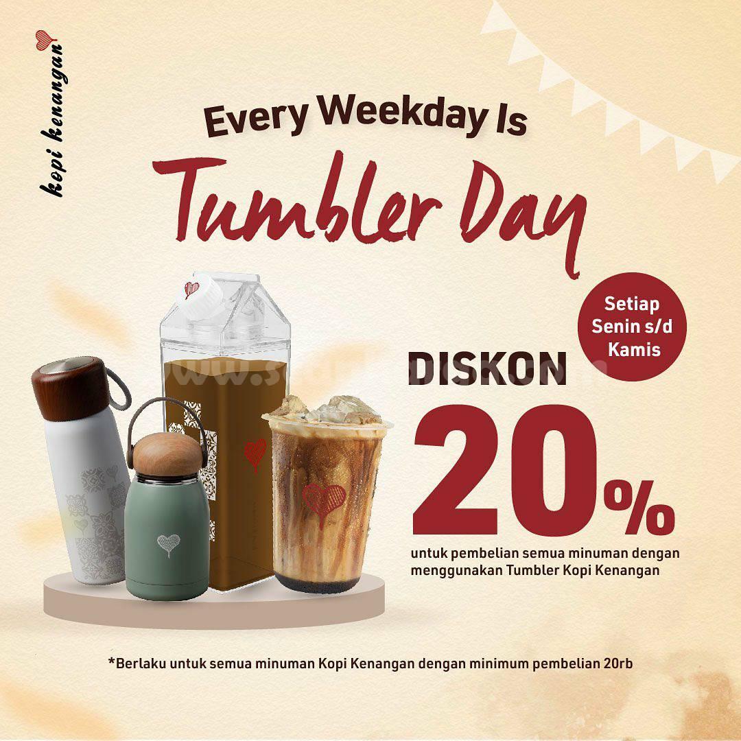 Kopi Kenangan Promo Weekday Tumbler Day Diskon 20%