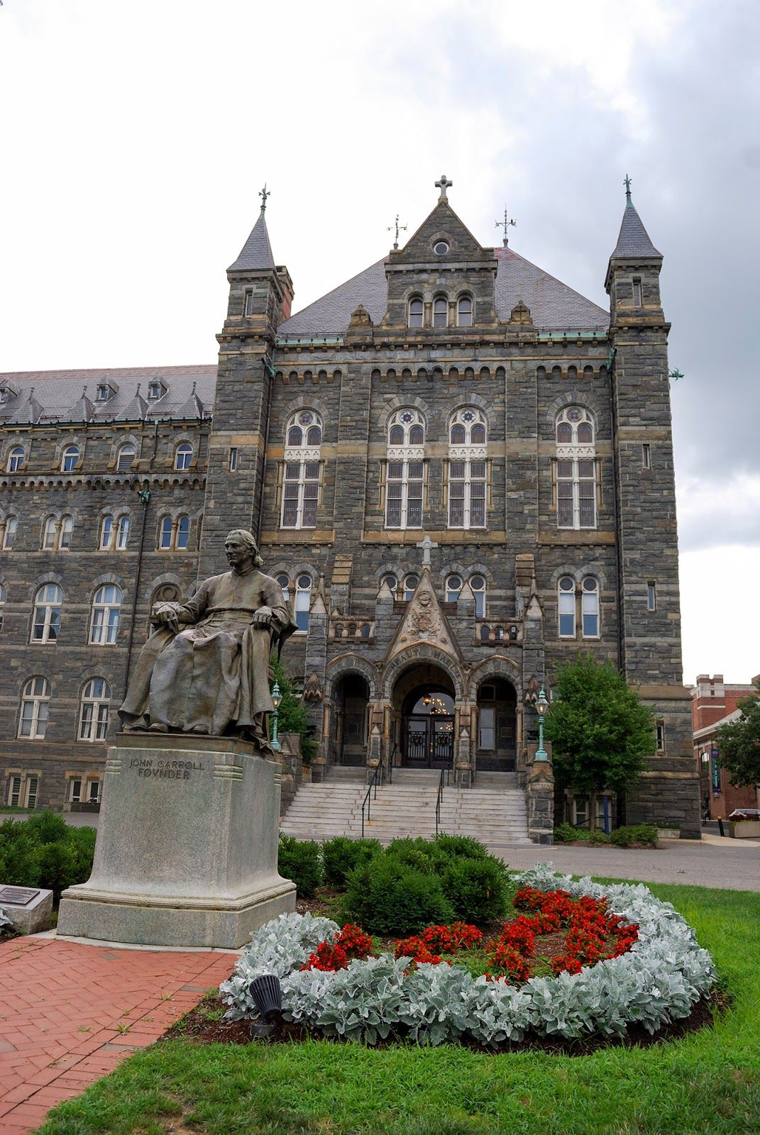 washington dc itinerary guide map georgetown university healy hall