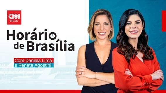 """Daniela Lima e Renata Agostini comandam o """"Horário de Brasília"""""""