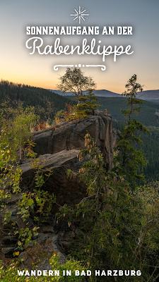 Sonnenaufgang an der Rabenklippe | Luchsgehege und Eckerstausee - Radau Wasserfall - Baumwipfelpfad | Wandern in Bad Harzburg | Wanderung im Harz