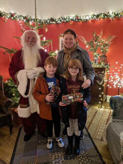 Christmas & Santa at Cragside Review  - Photo with Santa in his grotto