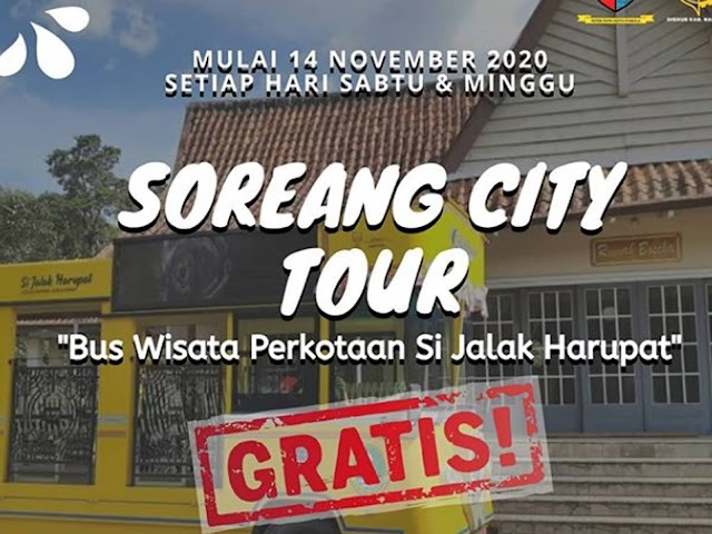 Ini Jadwal dan Rute City Tour Bus Si Jalak Harupat di Kawasan Pemkab Bandung