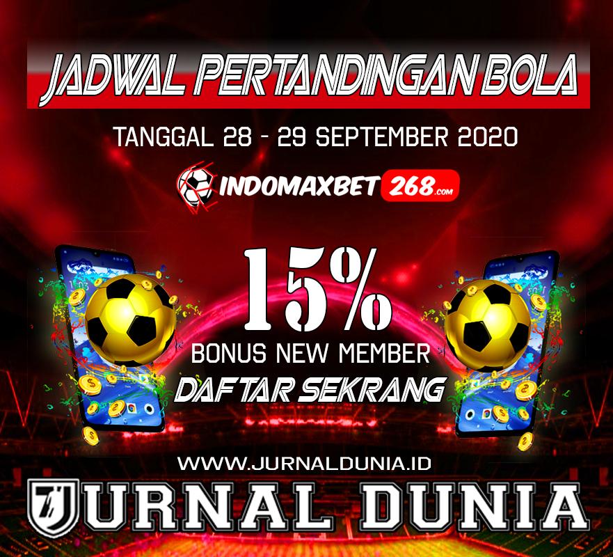 Jadwal Pertandingan Sepakbola Hari Ini, Senin Tgl 28 - 29 September 2020