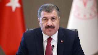 حصيلة جديدة يكشف عنها وزير الصحة التركي للإصابات والوفيات بفايروس كورونا