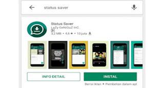 cara download status WA orang lain