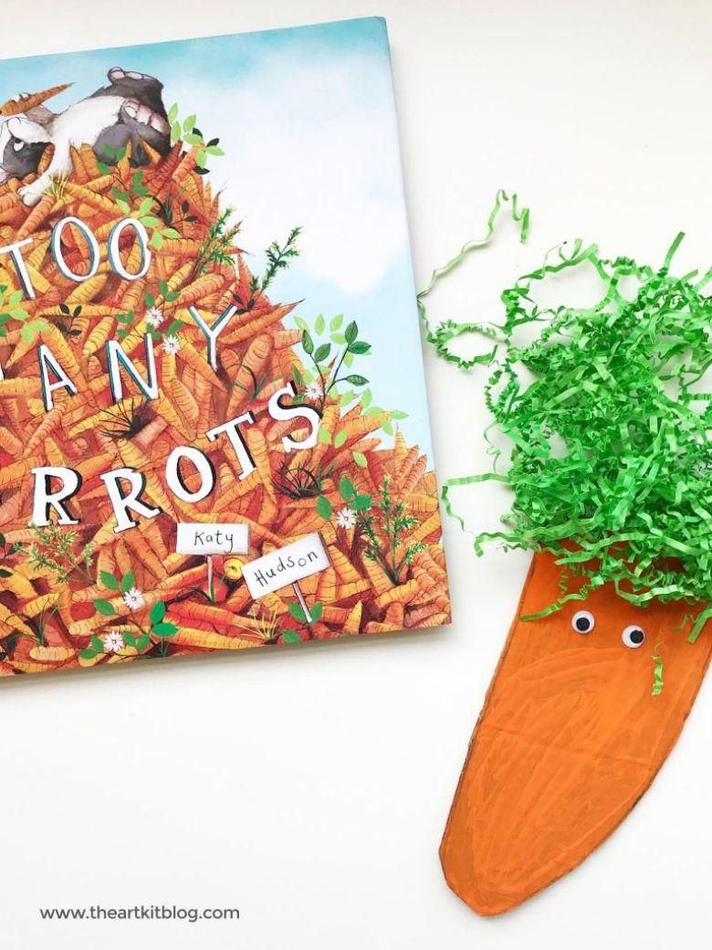 Spring crafts for kids - cardboard carrot craft