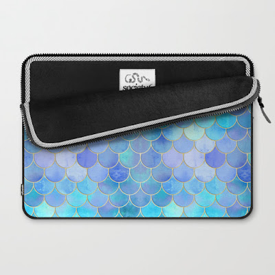 Aqua Pearlescent Laptop Sleeve from Society6