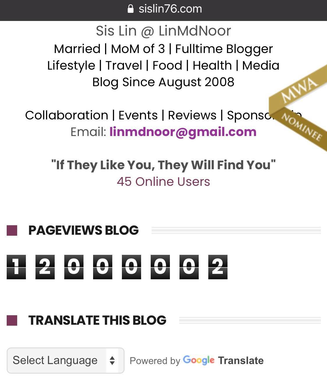 Pageviews Blog Aku Sudah Mencecah 12 000 000 JUTA!