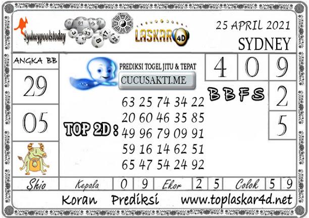 Prediksi Togel SYDNEY LASKAR4D 25 APRIL 2021